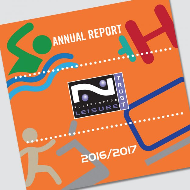 Northampton Leisure Trust Report & Accounts designed by Birdhouse Design Limited
