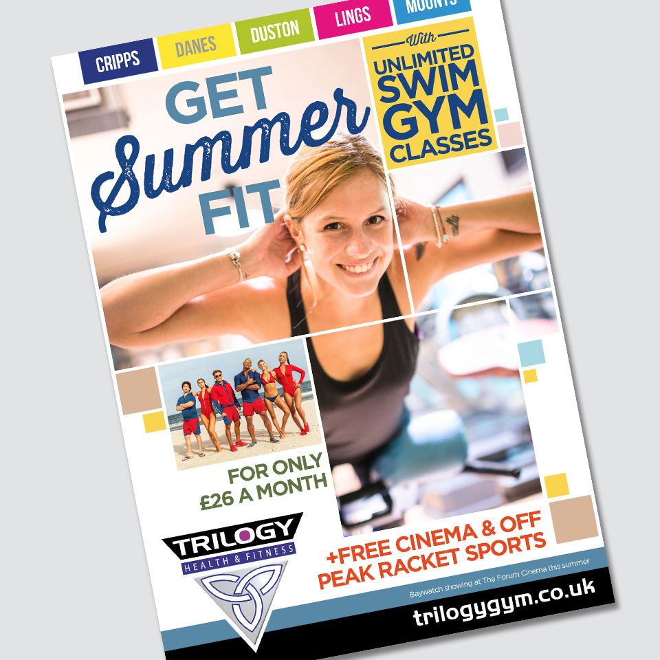 Northampton Leisure Trust Get Summer Fit campaign designed by Birdhouse Design Limited