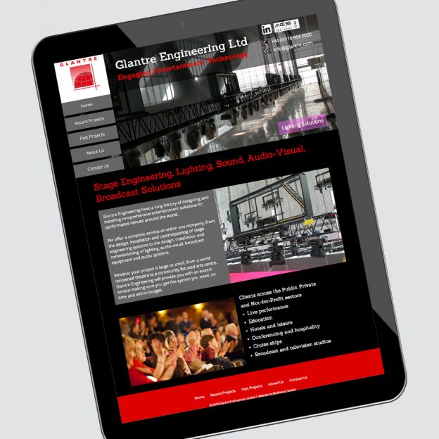 Glantre Engineering website by Birdhouse Design Limited