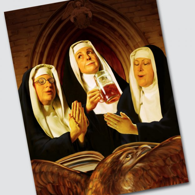 A swingsign image for The Three Nuns pub, Loughborough